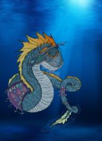 Ancient Sea Serpent by LostHellAngel