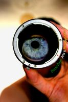 Thur the lens by DavidDoylearts