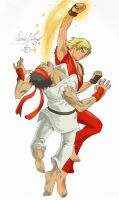 Ken Forks up Ryu SHORYUKEN by Kadazeo