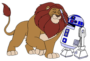 Lion and R2 by BennytheBeast
