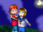 Requested- Lovers On A Starry Night by MyMelodyOfTheHeart