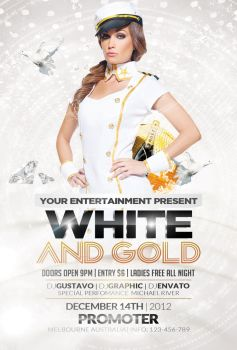 White and Gold Party | FREE Flyer by Valery-10