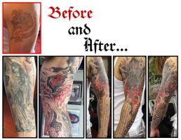 Dragon coverup by johndevilman