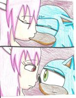 SonLucy: Inuyasha-style Kiss by cmara