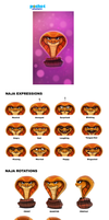 INTEL Pocket Avatars - Naja Rotation Sheet by Cryptid-Creations