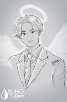 Guardian Angel - SketchBook APP by HigSousa