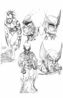 Wolverine sketches by timothygreenII