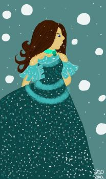 Sparkly dress by Arwen-udomiel