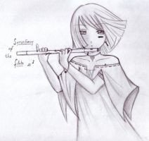 symphony of the flute by Michiko-Rose