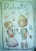 Robots in Love by Displaced-Paranoia