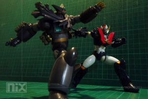 Black Getter vs Mazingkaiser by caswallon