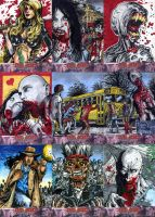 Deadworld zombie sketch cards by Kapow2003