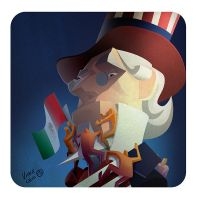 Editorial Uncle Sam 2 by kidchuckle