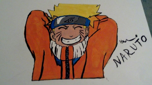 My FIRST Naruto painting by 9TailsRox