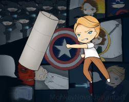 I just... I had a date (Captain America chibi) by monkeynova