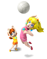 Mario Sports Mix Peach Daisy by AstroBoy122
