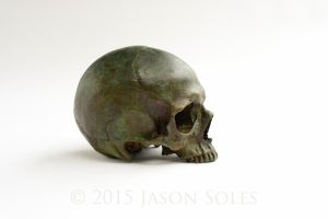 Bronze Female Skull by MrSoles