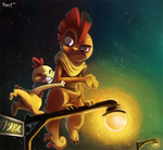 Daily 11 - Scraggy and Scrafty by Cryptid-Creations