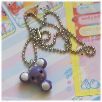 Purple Teddy Necklace by Keito-San