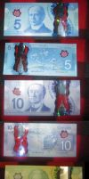 Canadian most common Polymer Banknotes by MichaelMiyamoto