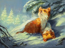 First Snow by Inna-Vjuzhanina