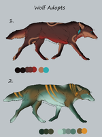 Wolf Adoptables SALE OPEN by Nalou