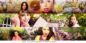 lily collins banners by mia47