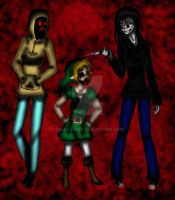 Hoodie, BENNY Drowned, Jess the Killer by YamiTasher