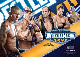 WrestleMania 27 Wide Poster by windows8osx