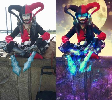 Before and after of Demon Jester by seelenfaenger-photo