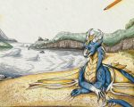 Blue Dragon by Bluminescent
