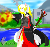 Skyrims newest mage!!! by KiaTheWolf