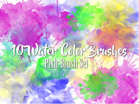 10 pixlr watercolor brush set by linds-mckinneyy