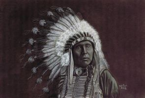 Red Indian Chief by ADRIANSportraits