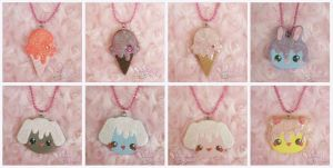 Sweet Deco Necklaces by ChibiWorks
