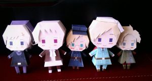 The Nordic family by me~Papercraft! by LadyEdile