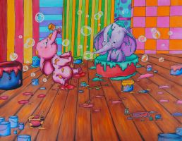 Baby Elephants by Ginger-Leigh