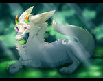 Sitting on Moss by DeNovember