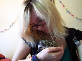 A Girl And Her Hedgehog by cadillacphunque