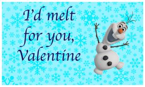 Frozen Valentine- Olaf #1 by HelloKeegs