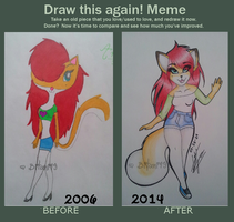 Before and After Meme: Andrea by Bitani49
