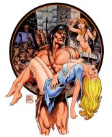 Tarzan Holds Jane by Tarzman