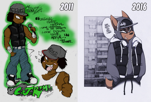 ~ Riley ~ Then and now by SCIFIJACKRABBIT