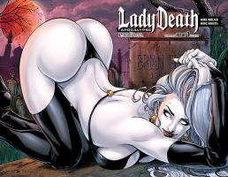 LADY DEATH: Apocalypse #1 cover by PowRodrix