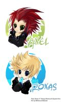 KH: chibi Axel and Roxas by NetherworldQueen