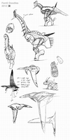 Fentil vertebrate doodles by Demmmmy