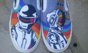 Daft Punk Custom Shoes by Kyg0n