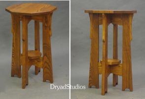 Board Leg Arts and Crafts plant stand 771 by DryadStudios