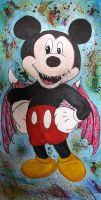 Evil Mickey Mouse by 666mephistopheles