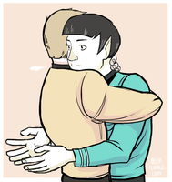 spock is crap at hugs by Oelm